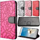 For LG Tribute Dynasty Prime ROSE Leather Wallet Case Pouch Flip Phone Cover