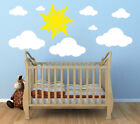 WHITE CLOUDS 20-23 WALL DECALS Sun Stickers Peel and Stick Nursery Kids Room