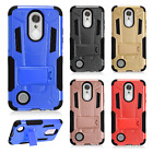 For ZTE Blade X Z965 Brushed Metal HYBRID Rubber Case Phone Cover Accessory