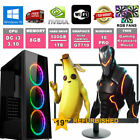 Fast Quad Core Gaming PC + Monitor Bundle 4GB RAM 500GB HDD Desktop Computer