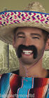 BLACK CHARACTER MOUSTACHES CHINESE TOFF MEXICAN FANCY DRESS COSTUME ACCESSORY