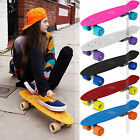 Skateboard Cruiser Complete Board Kids Deck Skate Colours PU Wheels For Beginner