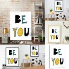 New English Letters Pattern Painting Print Picture Home Wall Modern Art LEBB