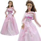 Evening Party Gown Wedding Dress Handmade Clothes Hat Outfit For Barbie Doll Lot