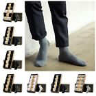 5 Pairs New Men Business Combed Cotton Socks Casual Anti-Slip Breathable Socks