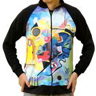 Kandinsky Yellow Red Blue Sweater Shirt Track Jacket Men Fine Art Print Abstract