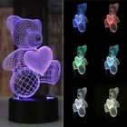 3D Illusion Bulbing Night Bedroom Decor Table Desk Lamp LED Light 7Colors Change
