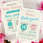 Gender neutral baby shower invitations, personalised and professionally made