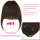 US Cheap Clip In 100% Human Hair Bangs Fringe Extensions Real Remy Virgin F944
