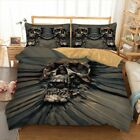 Skull Duvet Doona Quilt Cover Set Single King Queen Size Bed Linen Pillowcases