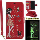 For Samsung Galaxy S8 S8 Plus Magnetic Shine Flip Case Cover Girl Card Holder