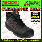 Mongrel Work Boots 480080 (Old) Black Hiker Boot, Steel Safety Toe Cap CLEARANCE