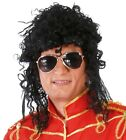 BLACK CURLY RELAXED AFRO WIG 1980S POP ROCK STAR FANCY DRESS COSTUME ACCESSORY