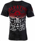 ARCHAIC by AFFLICTION T-Shirt BLACK TIDE Skull Tattoo Motorcycle Biker UFC $40 d image