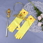 Belle Princess Girls Costume Dressing Up Fancy Party Costume Gloves Wand Tiara