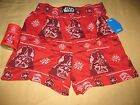 """Star Wars """"Darth Vader"""" Red Boxers/Sleep Shorts with Drink Coozie - NEW $11.0 USD"""
