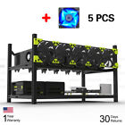 Veddha Open Air Frame Mining Rig Case Stackable For 6/8 GPU ZCash w/ 5/7 Fans ZB