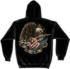 Patriotic Hooded Sweat Shirt These Colors Don't Run Black