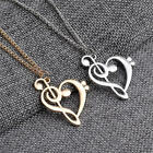 New Women Men Love Hollow Music Notes Necklace Long Sweater Pendant Gift