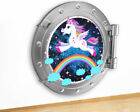 M519 Unicorn Magic Sky Rainbow Kids Canvas Picture Poster Wall Art Stickers Room