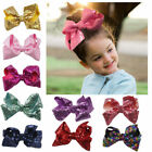 Large Sequin Hair Bow Alligator Clips Headwear Baby Girls Ha