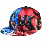 Captain America All Over Civil War New Era 59FIFTY Men's Fitted Flatbill Hat Cap