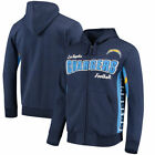 Los Angeles Chargers Hands High Player Full-Zip Hoodie - Navy/Powder Blue $69.99 USD on eBay