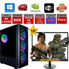 "Fast Dual Core Gaming Pc 19"" Monitor Option Bundle 4gb Ram 500gb Hdd  Computer"