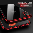 New For iPhone X 8 7 6s 6 Plus Shockproof Plating Clear Hybrid Bumper Case Cover