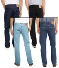 LEVIS Mens 501 Denim Jeans Lightwash Stonewash Black Indigo Onewash Red Tab Levi