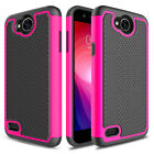 For LG Fiesta LTE/ X Charge/ X Power 2 Hybrid Phone Case+Glass Screen Protector