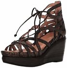Gentle Souls Womens Joy Ghillie Detail Wedge Sandal- Select SZ/Color.