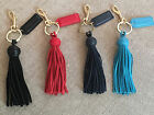 Mark and Graham Leather Tassel Keychain 4 COLORS  All Have Monograms