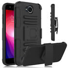 For LG X Charge/Fiesta LTE/X Power 2 Kickstand Phone Case+Glass Screen Protector