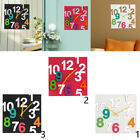 Modern Acrylic Colorful Wall Clock 3D Hollow Numbers Mute Clock Home Decor
