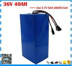 Lithium Battery 40AH 36V Volt Rechargeable Bicycle 1000W E Bike Electric Li-ion