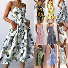 Women's Off The Shoulder Floral Midi Dress Summer Party Long Maxi Beach Sundress