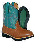 kids cow girl boots - Itasca DEPUTY Kids Youth Teal Brown Cowboy Cowgirl Western Boots