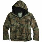 Hooded Surplus Woodland Camouflage Windbreaker Jacket Water-Resistant Jacke