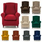 Winged Seat Stretch Armchair Cover Washable Elasticated Slipcover Protector