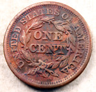 1847 Braided Hair Large Cent  / / Uncirculated-AU (details)  / / (LC452)