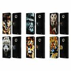 HEAD CASE DESIGNS WILDFIRE LEATHER BOOK WALLET CASE COVER FOR MOTOROLA PHONES