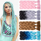 "1-5PCS 525G Jumbo Kanekalons Braids Braiding Hair Extensions 24"" Grey Blue FOC"