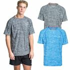 Trespass Gaffney Mens Active Top Short Sleeve in Blue & Grey