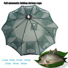 Automatic Fishing Bait Net Trap Cast Dip Cage Crab Fish Minnow Shrimp Foldable
