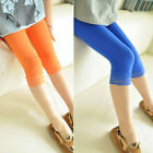 Kids Girls Candy Color Lace Velvet Skinny Stretchy Leggings Pants Trousers USA
