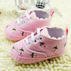 Infant Walking Crib Shoes Newborn Baby Girls Floral Soft Sole Sneaker 0-12M USA