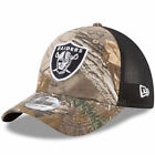 Oakland Raiders New Era Trucker 39THIRTY Flex Hat - Realtree Camo/Black