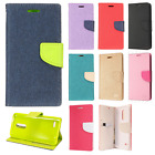 For LG K10 2018 Premium Leather 2 Tone Wallet Pouch Flip Case Phone Cover