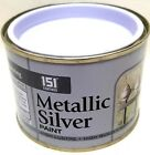 METALLIC Paint SILVER 180ml In/Exterior Painting Decorating Wood Metal Concrete